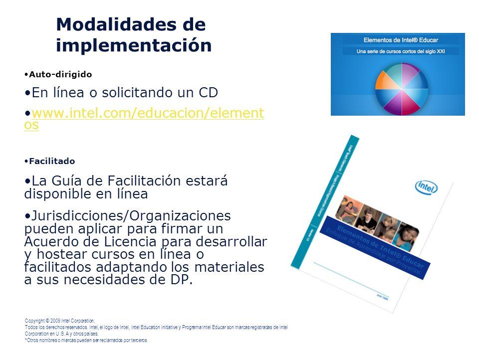 Modalidades de implementación