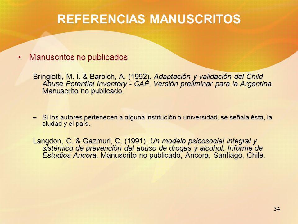 REFERENCIAS MANUSCRITOS