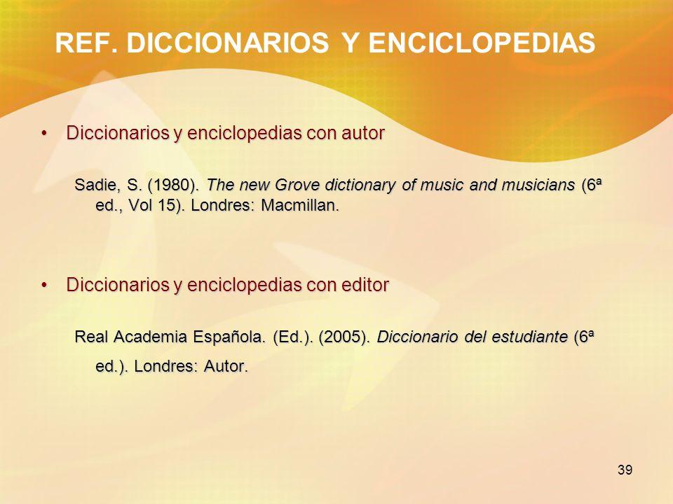 REF. DICCIONARIOS Y ENCICLOPEDIAS