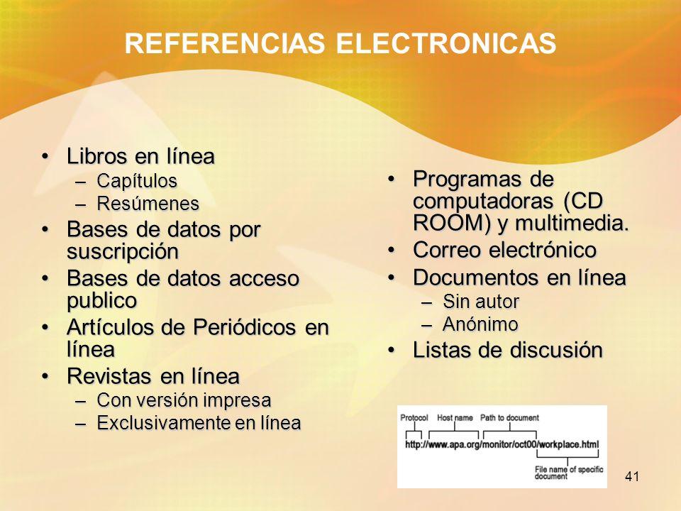 REFERENCIAS ELECTRONICAS