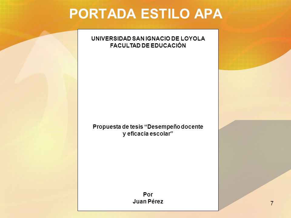 PORTADA ESTILO APA UNIVERSIDAD SAN IGNACIO DE LOYOLA