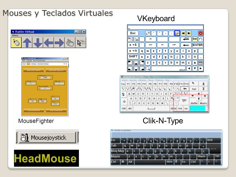 Mouses y Teclados Virtuales VKeyboard