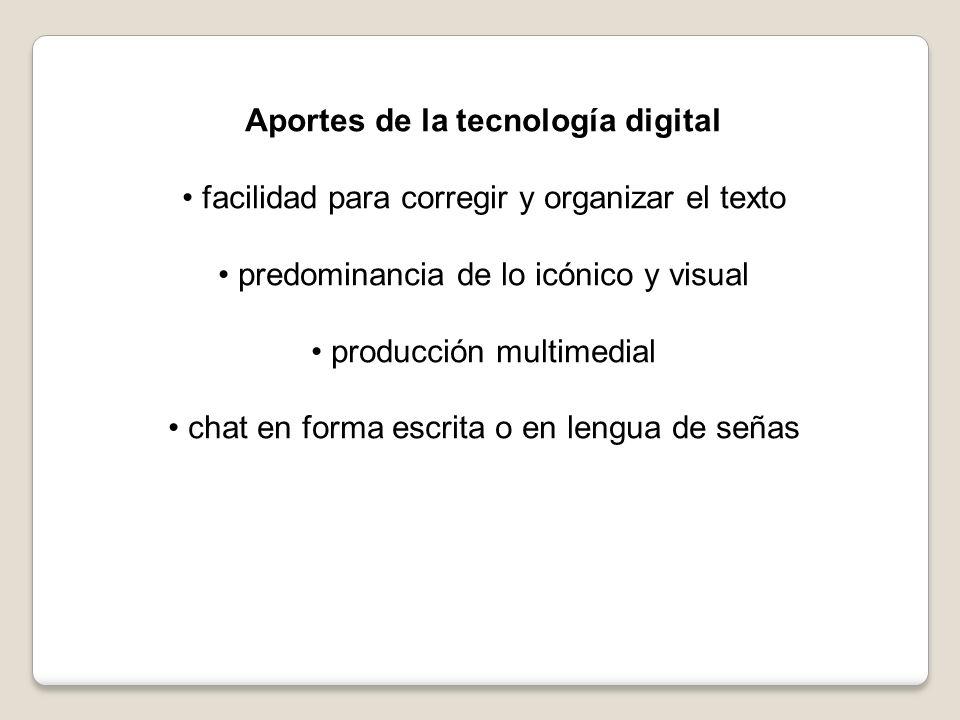 Aportes de la tecnología digital