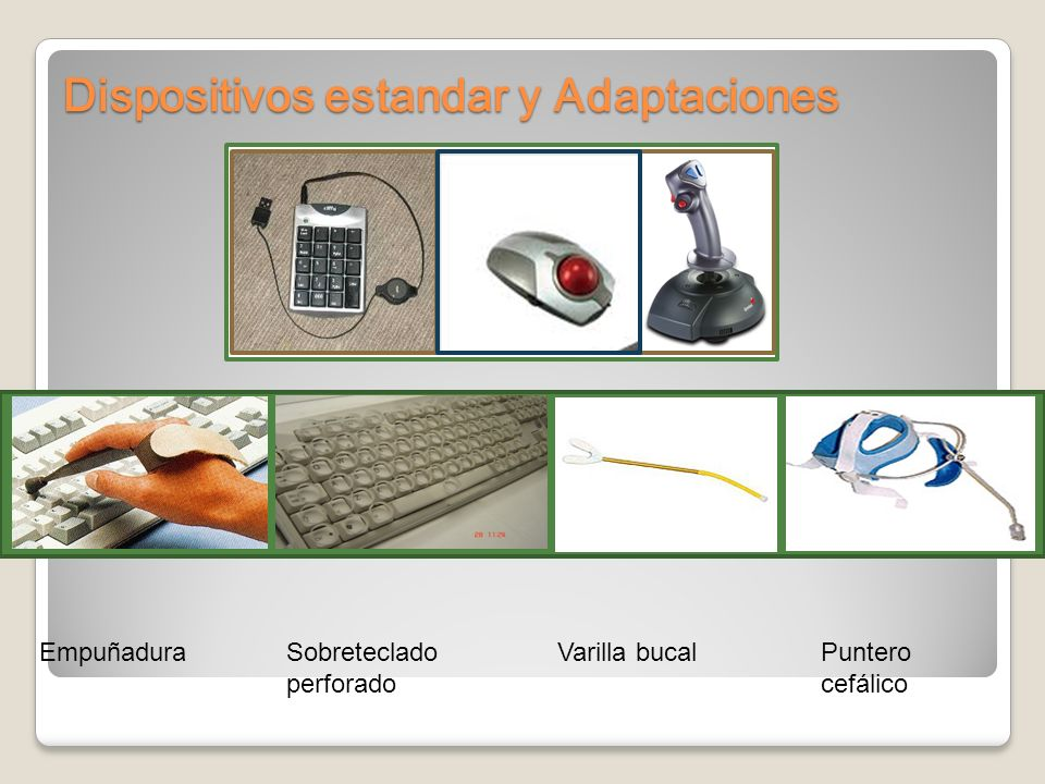 Dispositivos estandar y Adaptaciones