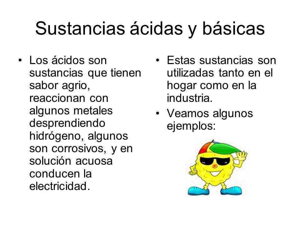 Sustancias ácidas y básicas