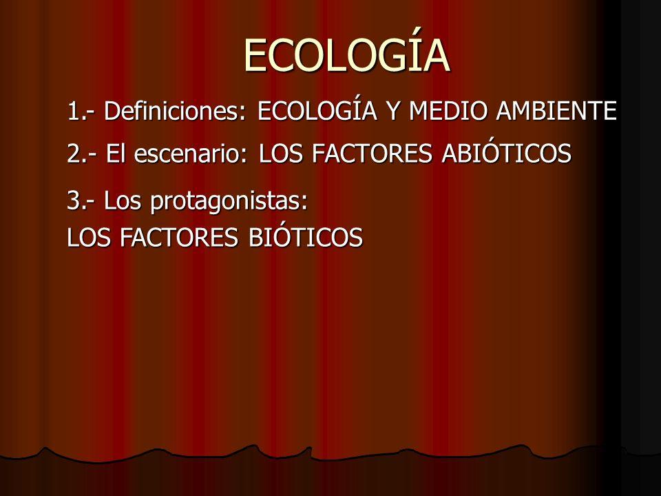 2.- El escenario: LOS FACTORES ABIÓTICOS
