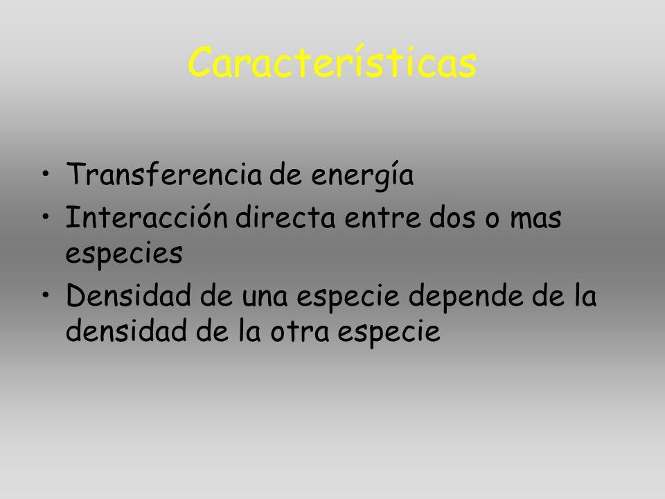 Características Transferencia de energía