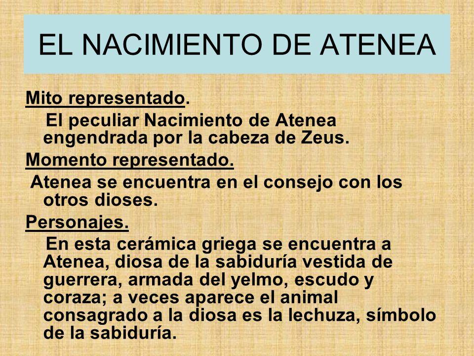 EL NACIMIENTO DE ATENEA