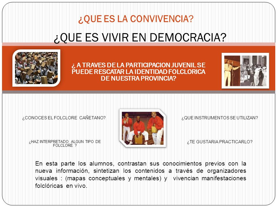 ¿QUE ES VIVIR EN DEMOCRACIA