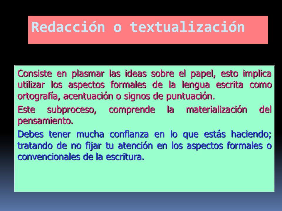Redacción o textualización