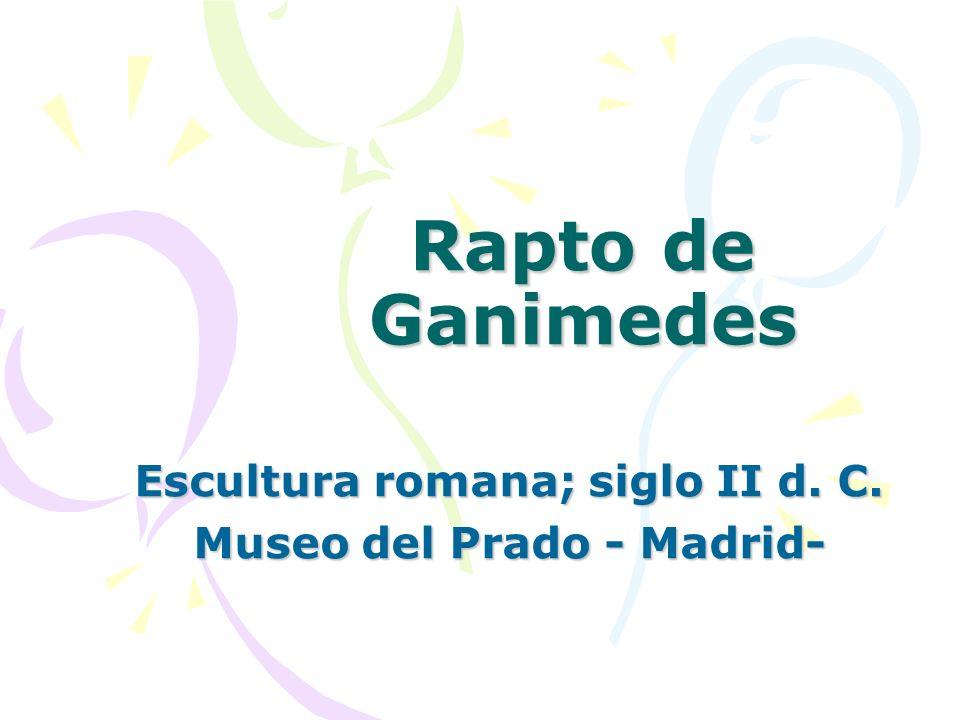 Escultura romana; siglo II d. C. Museo del Prado - Madrid-