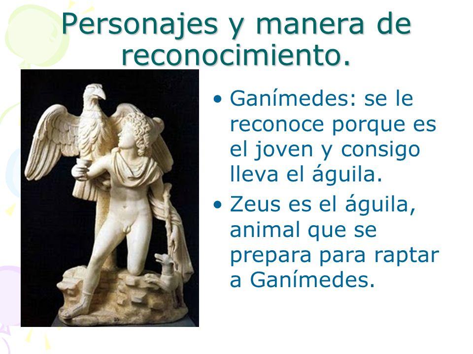 Personajes y manera de reconocimiento.