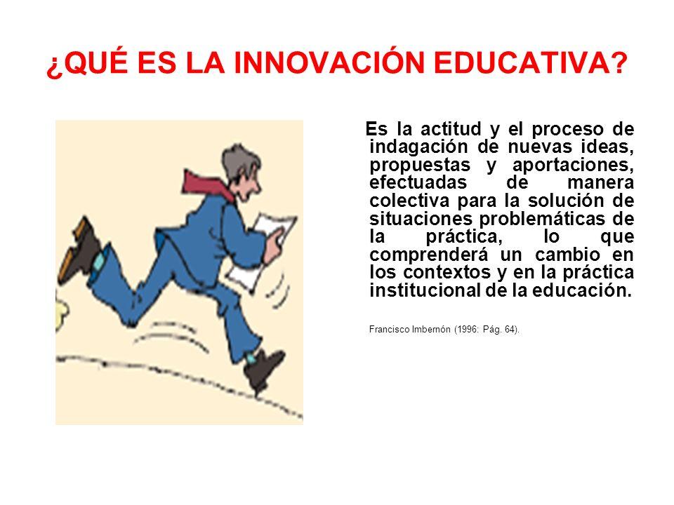 ¿QUÉ ES LA INNOVACIÓN EDUCATIVA