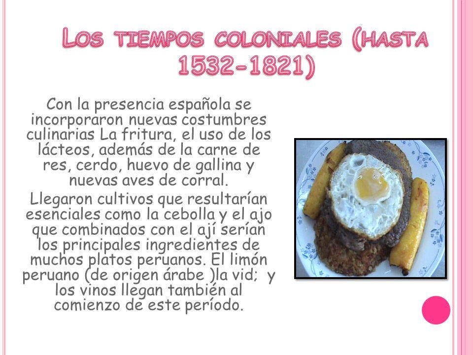 Los tiempos coloniales (hasta 1532-1821)