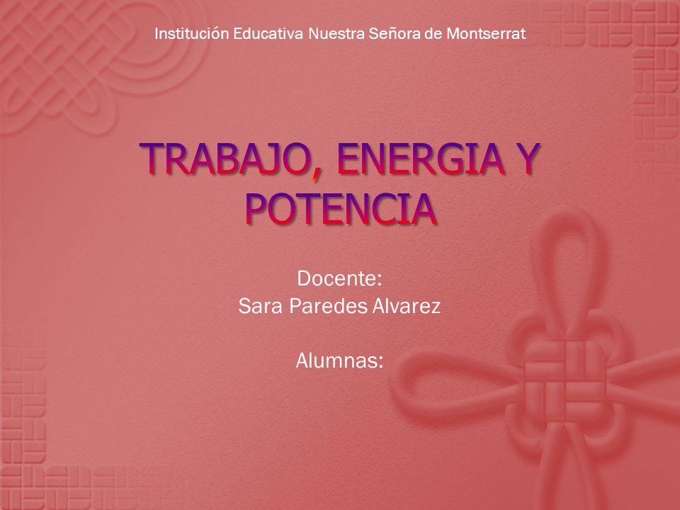 TRABAJO, ENERGIA Y POTENCIA