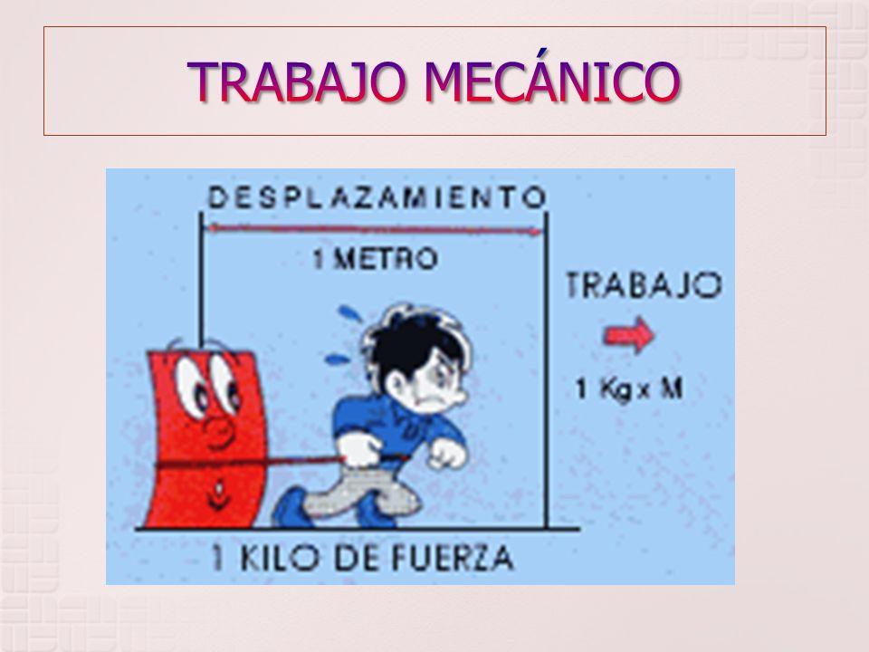 TRABAJO MECÁNICO