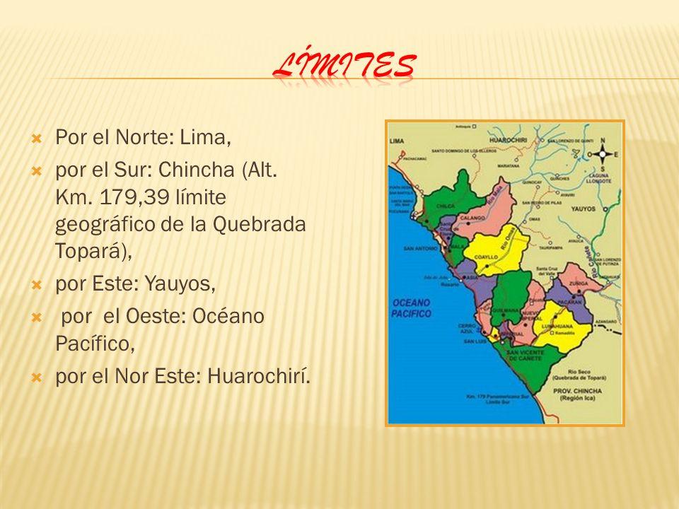 Límites Por el Norte: Lima,