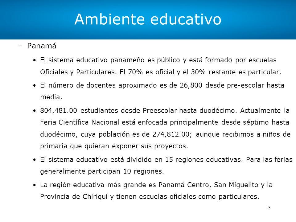 Ambiente educativo Panamá