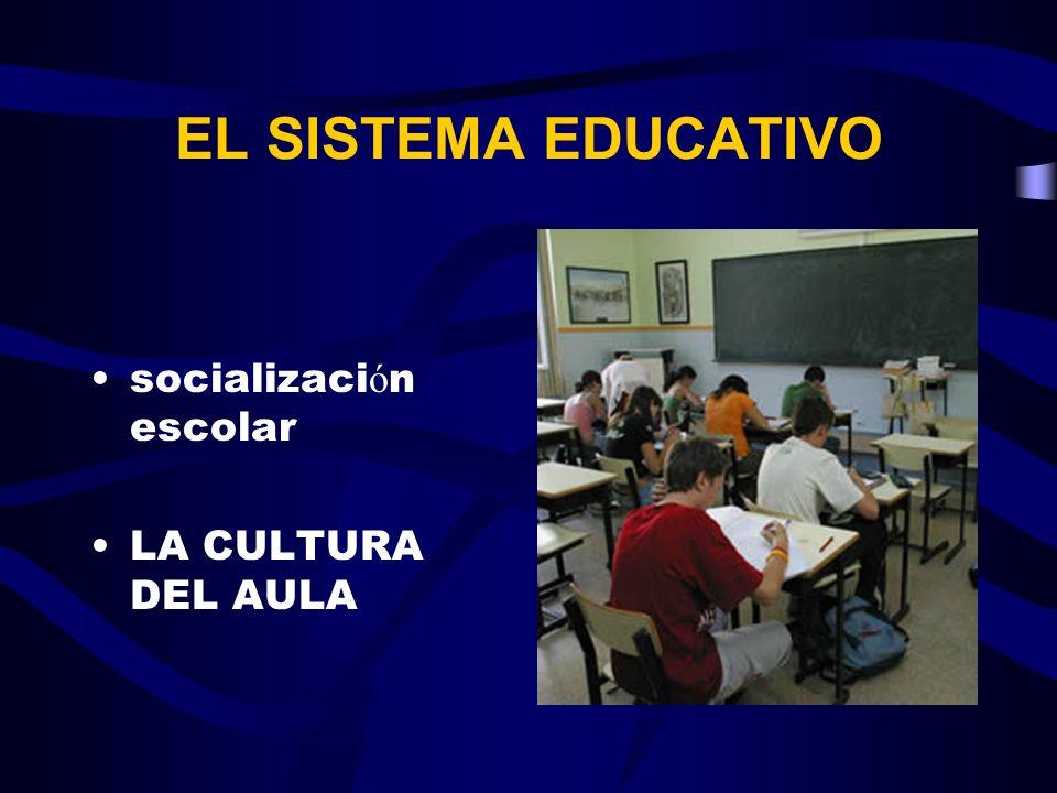 EL SISTEMA EDUCATIVO socialización escolar LA CULTURA DEL AULA