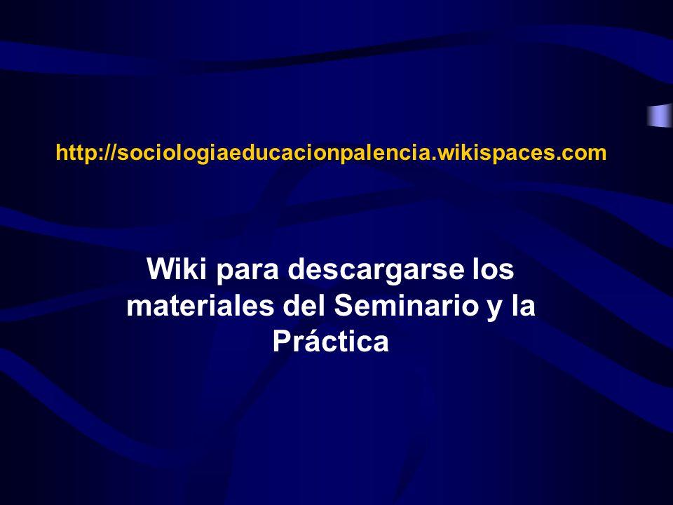 Wiki para descargarse los materiales del Seminario y la Práctica