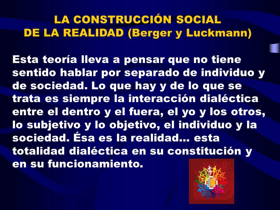 LA CONSTRUCCIÓN SOCIAL DE LA REALIDAD (Berger y Luckmann)