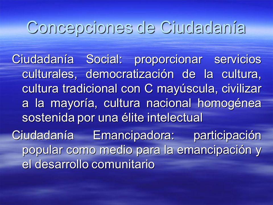 Concepciones de Ciudadanía