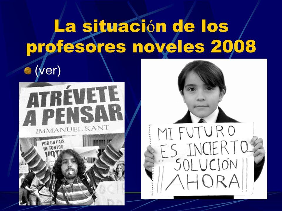 La situación de los profesores noveles 2008