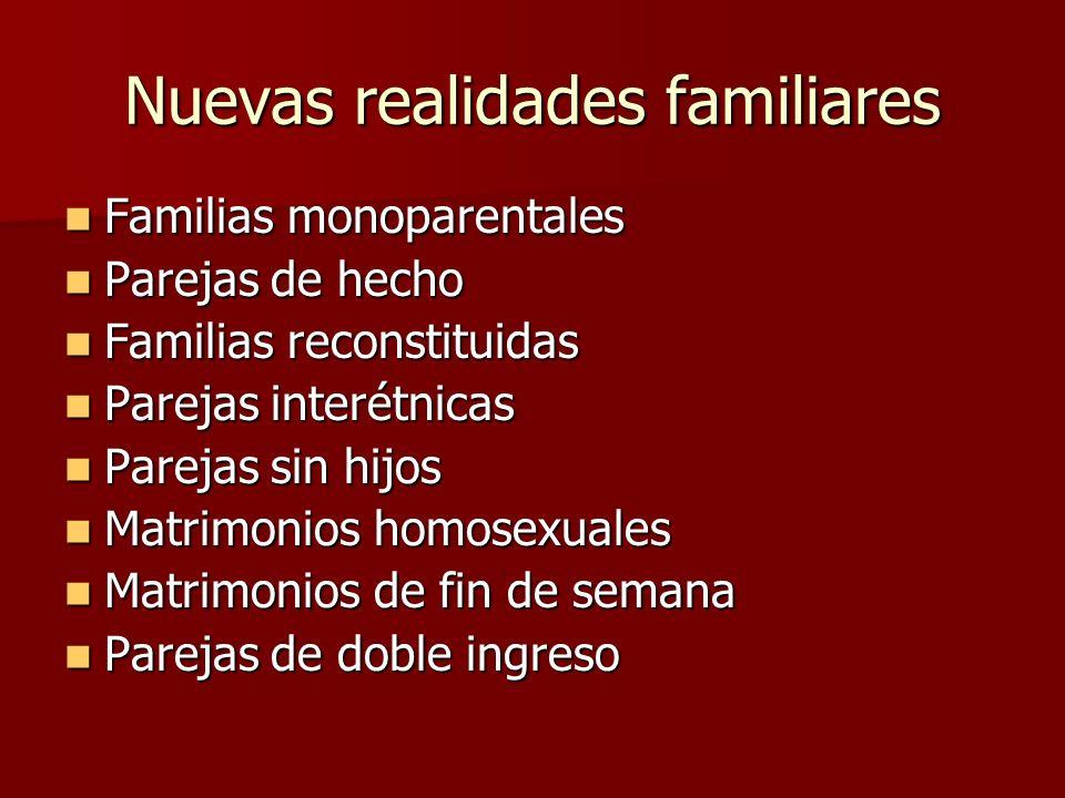 Nuevas realidades familiares
