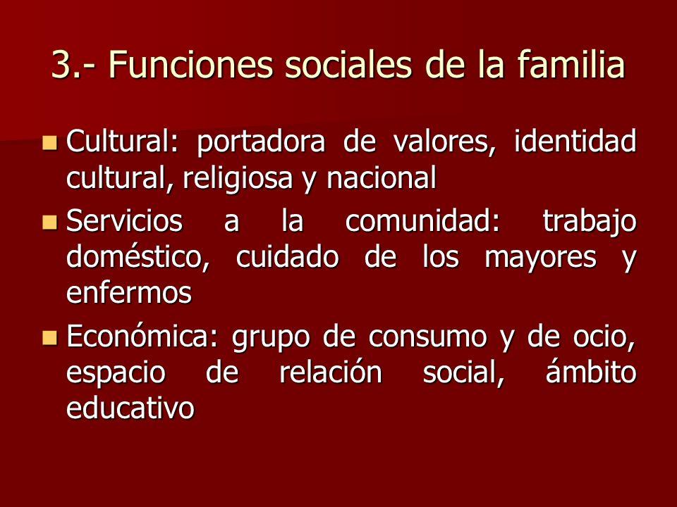 3.- Funciones sociales de la familia