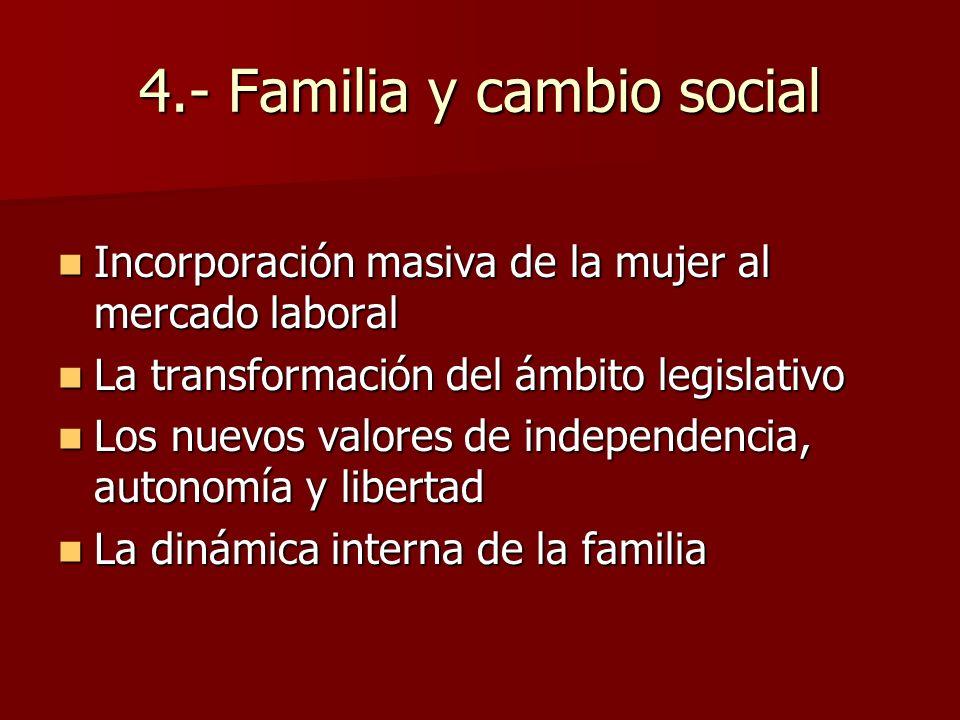 4.- Familia y cambio social