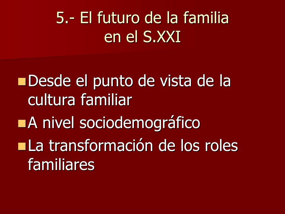 5.- El futuro de la familia en el S.XXI