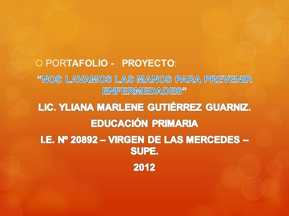 PORTAFOLIO - PROYECTO: