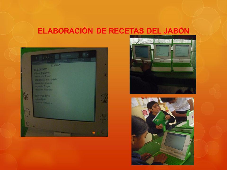 ELABORACIÓN DE RECETAS DEL JABÓN
