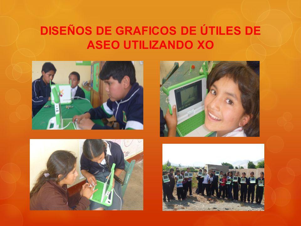 DISEÑOS DE GRAFICOS DE ÚTILES DE ASEO UTILIZANDO XO