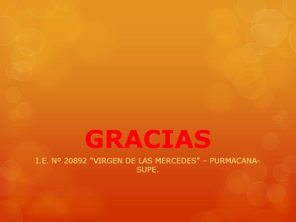 I.E. Nº 20892 VIRGEN DE LAS MERCEDES – PURMACANA- SUPE.