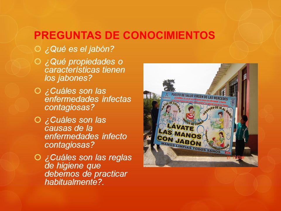 PREGUNTAS DE CONOCIMIENTOS