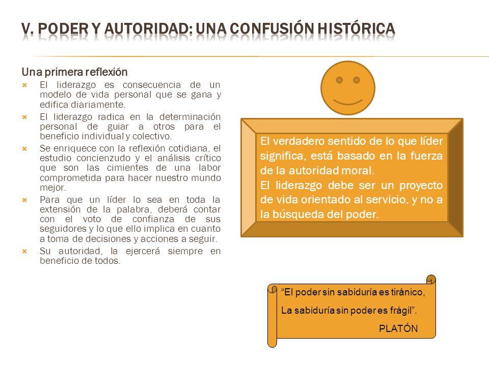 V. PODER Y AUTORIDAD: UNA CONFUSIÓN HISTÓRICA