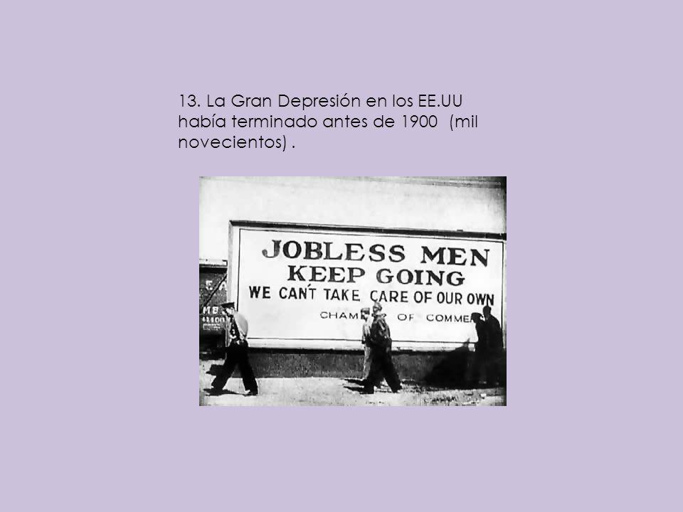 13. La Gran Depresión en los EE