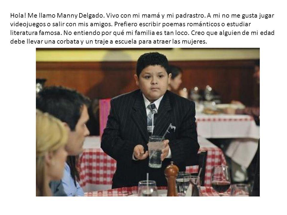 Hola. Me llamo Manny Delgado. Vivo con mi mamá y mi padrastro