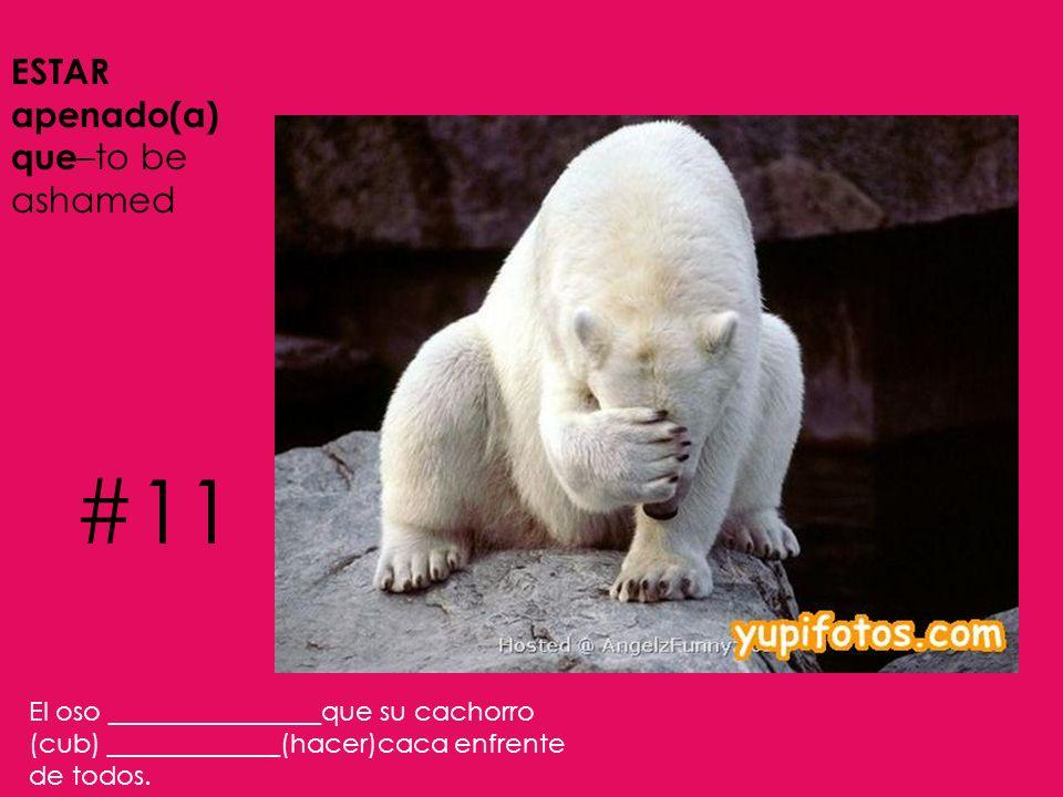 #11 ESTAR apenado(a) que–to be ashamed