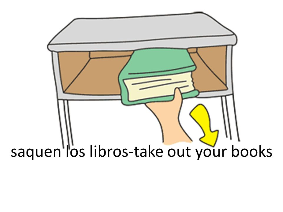 saquen los libros-take out your books