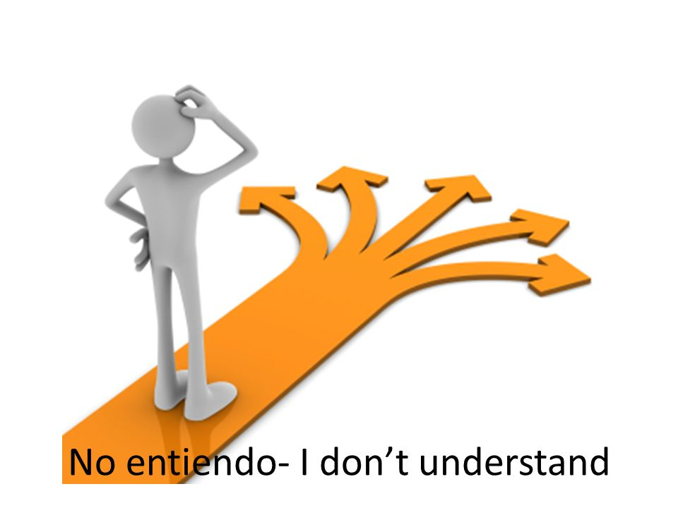No entiendo- I don't understand