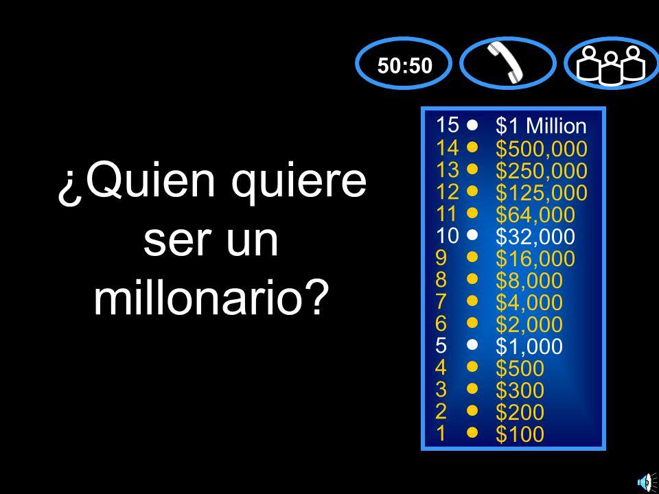 ¿Quien quiere ser un millonario
