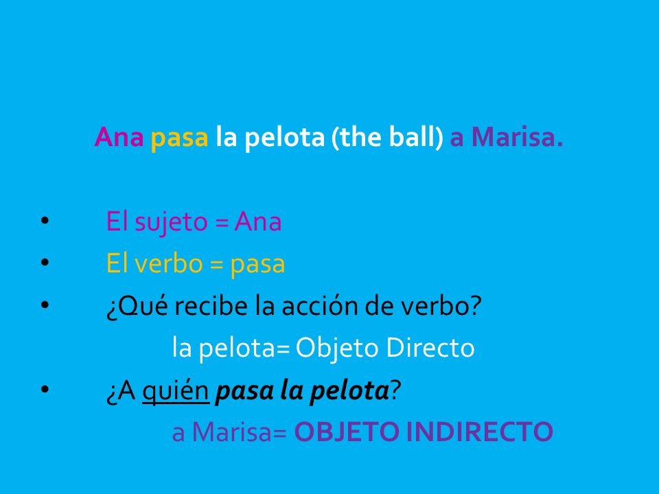 Ana pasa la pelota (the ball) a Marisa.