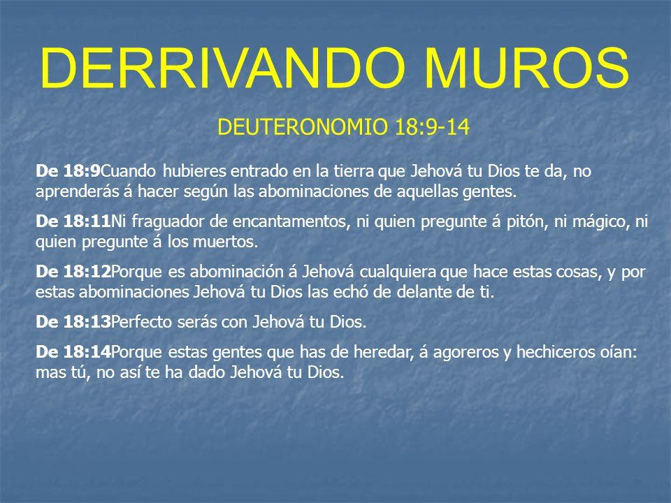 DERRIVANDO MUROS DEUTERONOMIO 18:9-14