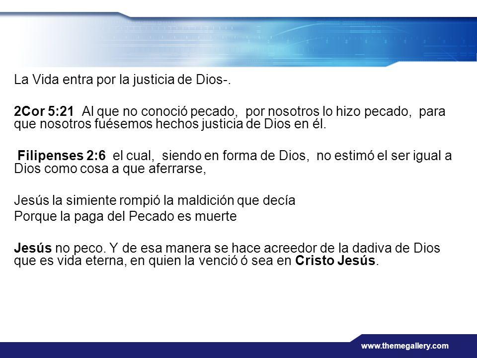 La Vida entra por la justicia de Dios-.
