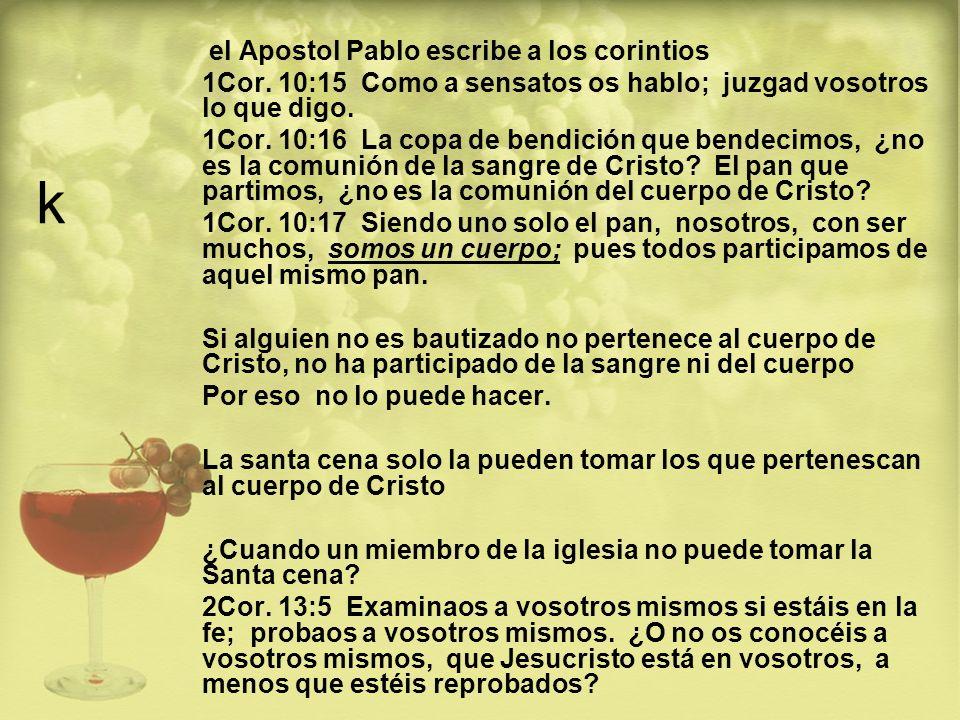 k el Apostol Pablo escribe a los corintios