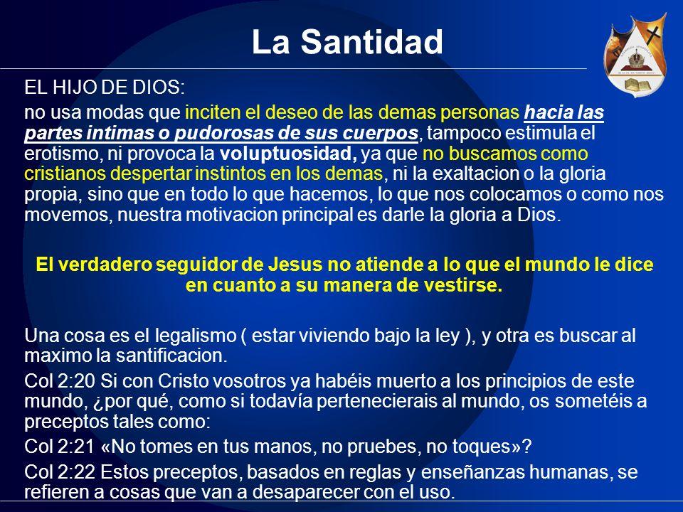 La Santidad EL HIJO DE DIOS: