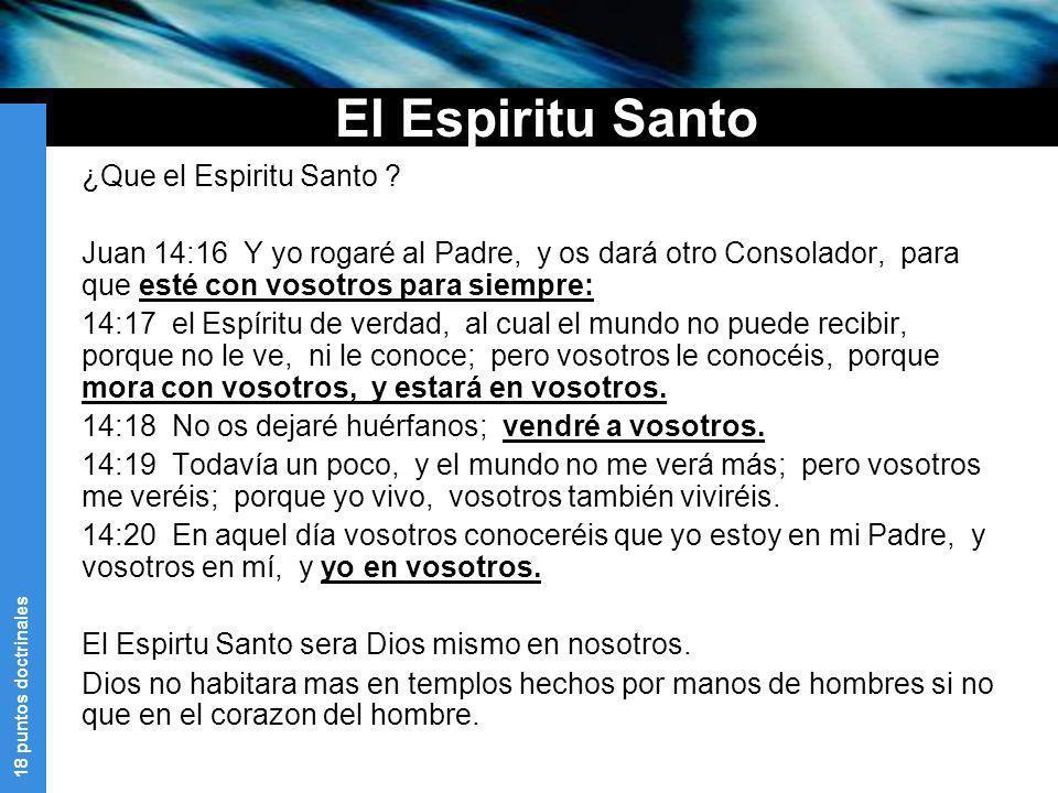 El Espiritu Santo ¿Que el Espiritu Santo