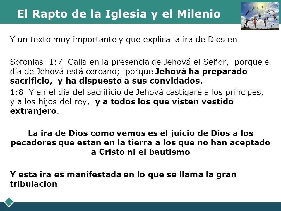 El Rapto de la Iglesia y el Milenio